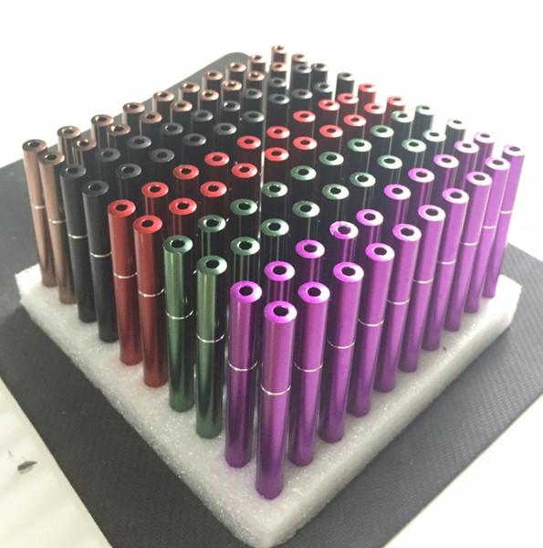 Tubo de humo de cigarrillos de colores Tubos de metal en forma de cigarrillo Batidor Bateador Mano Tabaco de fumar Filtro de hierba Tubo de tubo Holder 78mm Snuff Snuff