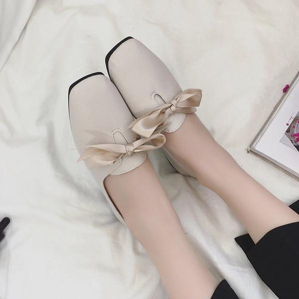 2019 woman single shoe schoolgirl low with bow mom shoe women platform shoes zapatos de mujer sapato tenis feminino