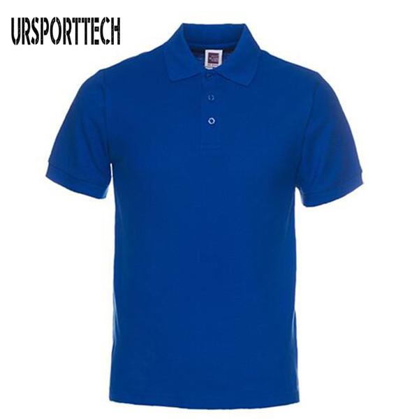 Новый бренд мужчины рубашки поло мужские хлопок с коротким рукавом Поло рубашка повседневная сплошной цвет рубашка Camisa Polo Masculina De Marca S-3xl Q190428