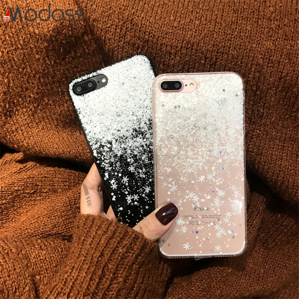 ZZYD Soft TPU Edge Hard Acrylic Flash Glitter Snow Full Protective Back Cover Phone Cases For iPhone X XS XR XS MAX