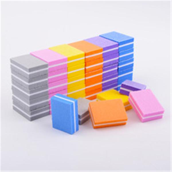 Double-sided Mini Nail File Blocks Colorful Sponge Nail Polish Sanding Buffer Strips Nail Polishing Manicure Tools