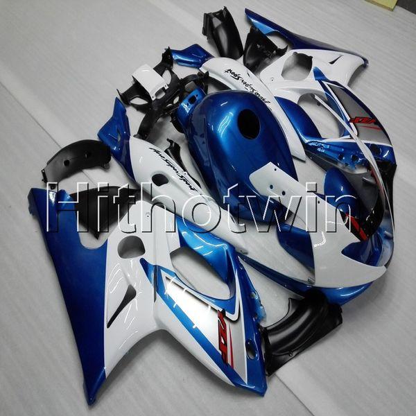 23colors + Gifts blau weiße Motorradkappe für Yamaha YZF600R 1997 1998 1999 2000 2001 2002 2003 2004 2005 2006 2007 ABS Verkleidung aus Kunststoff