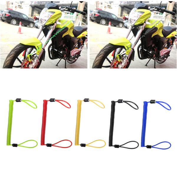 Hot New 1 Pc 150cm Alarme disque Verrou de sécurité Rappel de ressort Scooter Câble Moto Vélo 5 couleurs de haute qualité