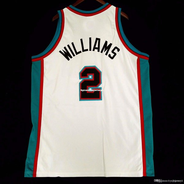 100% Cousu # 2 Jason Williams Rbk gros Jersey Mens Vest Taille XS-6XL Cousu basket-ball Maillots Ncaa