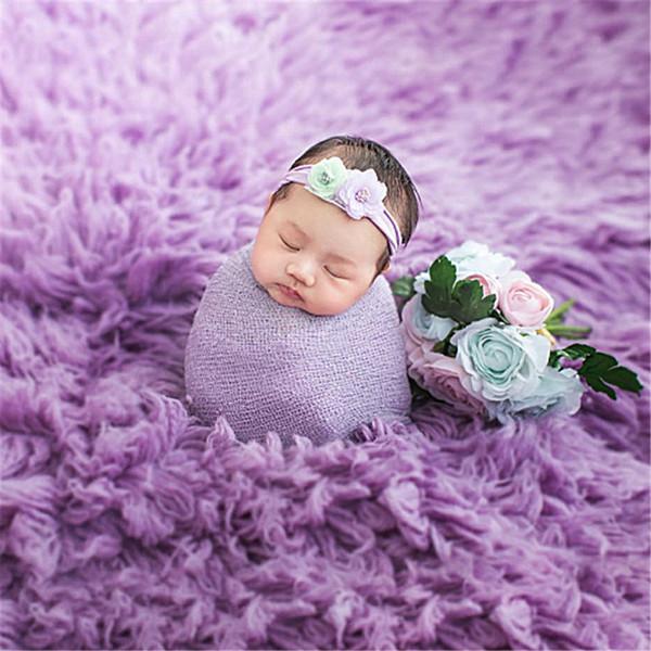 80 * 100 cm Bebê Recém-nascido Fotografia Adereços Foto Blanket Fundo Fur Infantil Cobertor Fotografia Acessórios