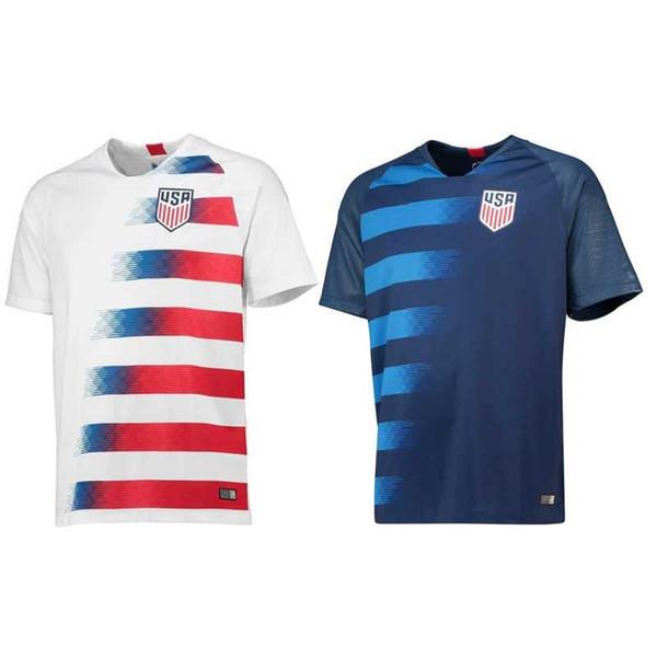 2018 2019 TOP Thailand USA PULISIC Soccer Jersey 18 19 DEMPSEY BRADLEY ALTIDORE WOOD America Football Shirt United States Camisetas