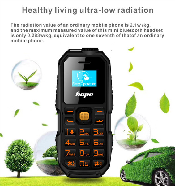 Bar phone small unlocked phones FM sim card stand by 0.66inch Bm60 cell phone with 2G network FM radio called bluetooth
