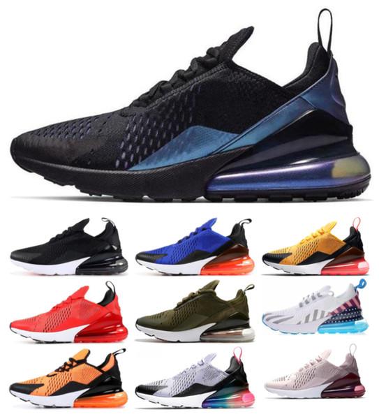 nike air max 270 Hombres Mujeres Zapatos para correr 27C OREO Tiger Hot Punch Triple Blanco Negro SEA VERDADERO Zapatilla deportiva de trullo Zapatillas de deporte al aire libre