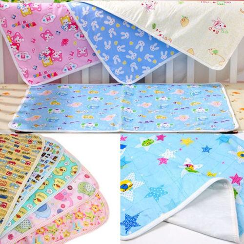 Newborn Infant Kid Baby Ecologic Diaper Nappy Mat Absorbent Cotton Waterproof Mattress Bed Sheet Changing Cover Pad