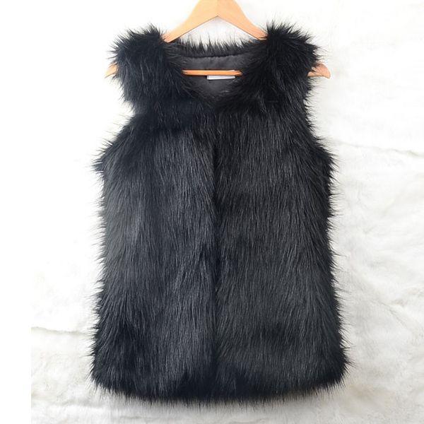Winter Fashion Waistcoat Women Fake Fur Vest Sleeveless Gilet Faux Vest Coat V-Collar female Short Waistcoat Jacket Outwear