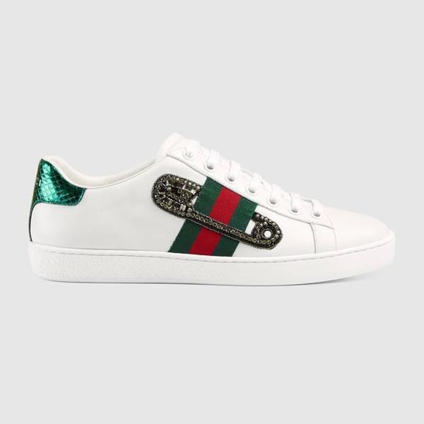 454552 Sneakers Elbise Ayakkabı Orijinal Ace Işlemeli Sneaker Loafer'lar Sürücüler Espadrilles Sneakers Flats Ayakkabı