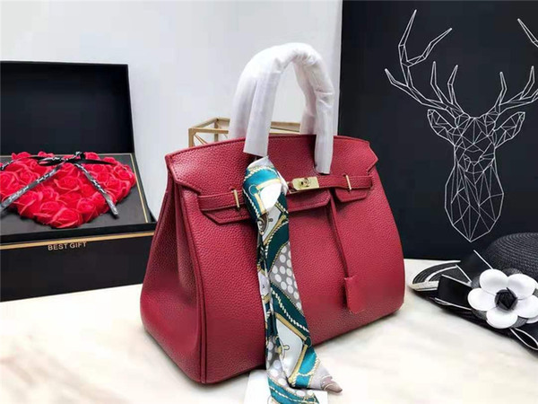 2019 Women designer handbags bags tote clutch shoulder bags good quality leather lichee pattern crossbody messenger bags