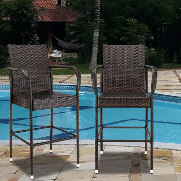 Sonyi patio bar tool wicker outdoor and indoor patio furniture with footre t and armre t garden pool lawn backyard et
