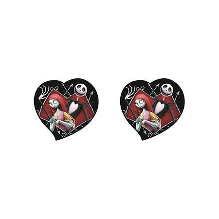 2020 new the nightmare before christmas shrinky dinks earring sally and jack silver epoxy earring acrylic earring