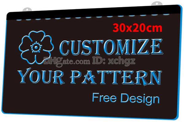 [F000] 30x20cm Personnalisez votre plaque logo, enseignes ou gabarits NOUVELLE gravure 3D Signe lumineux à LED Personnalisez à la demande 8 couleurs