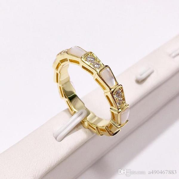 Высокого качество нового способа кольца из нержавеющей стали 18K золото выросло серебро белых обечаек для трендовых людей и пар подарков