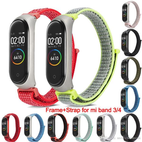 Нейлоновая петля Сменный браслет для Xiaomi Mi band 3 Спортивный браслет Дышащий ремешок для Xiaomi Miband 4 Smart Watch Accessori