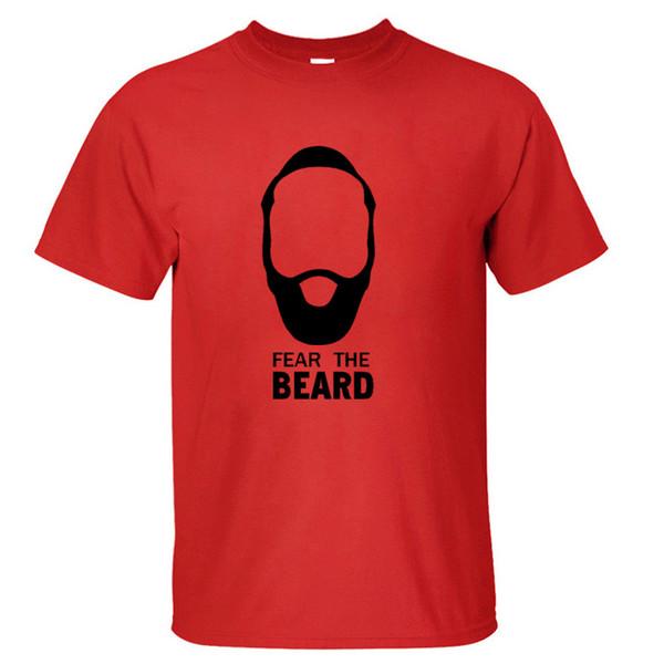 Star James Harden Medo da Barba de Algodão T Shirts O Pescoço Dos Homens de Manga Curta Tops de Esportes