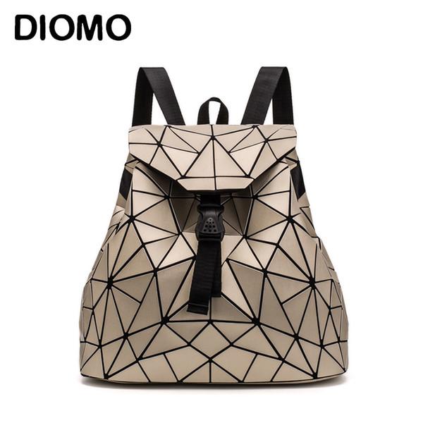 Diomo 2018 Triangle géométrique irrégulière Sequin Sac à dos Femmes Bagpack Mode Femme Sacs à dos pour les filles sac à dos de