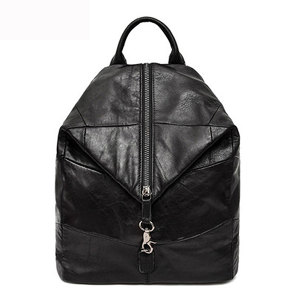 top popular 2020 New Women Cow Leather Backpack Large Capacity Soft 100% Genuine Leather School Bags For Ladies High Quality Travel Bags 2020