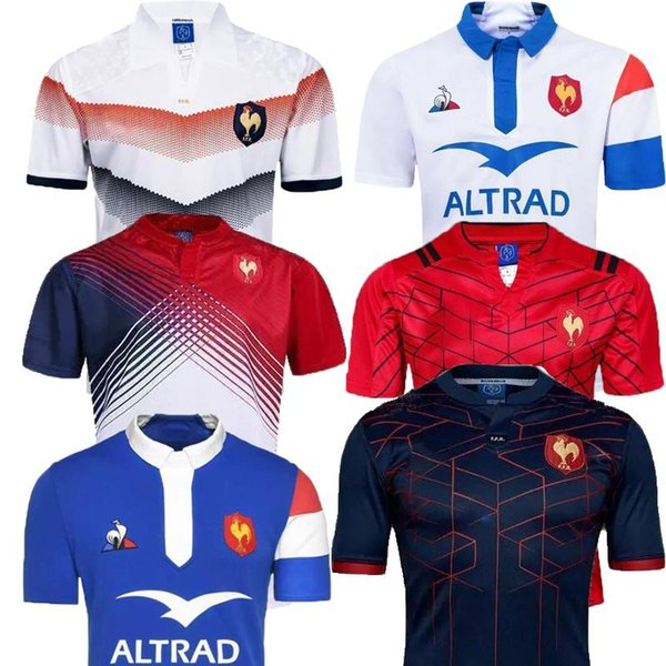 top popular Top quality 2018 2019 New France Super Rugby Jerseys 18 19 France Shirts Rugby Maillot de French Rugby Jersey Size S-3XL 2019