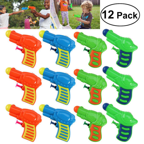 12pcs Colorful Water Guns Plastic Water Squirt Toy For Kids Watering Game (Random Color)