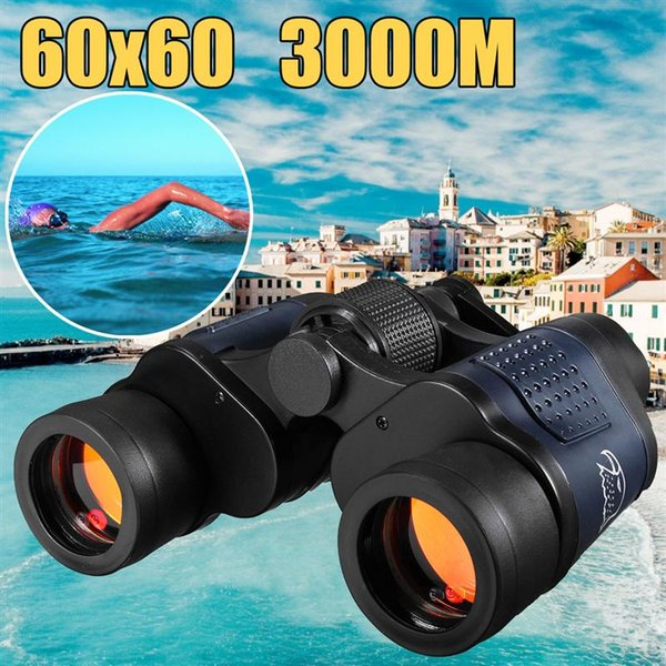 Nuovo binocolo 60X60 per visione notturna con telescopio ottico High Clarity 3000M Waterproof High Power Definition Outdoor Hunting
