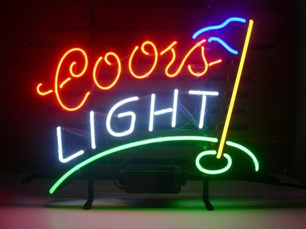 New Star Neon Sign Factory 17X14 Inches Real Glass Neon Sign Light for Beer Bar Pub Garage Room Coors Light Golf.