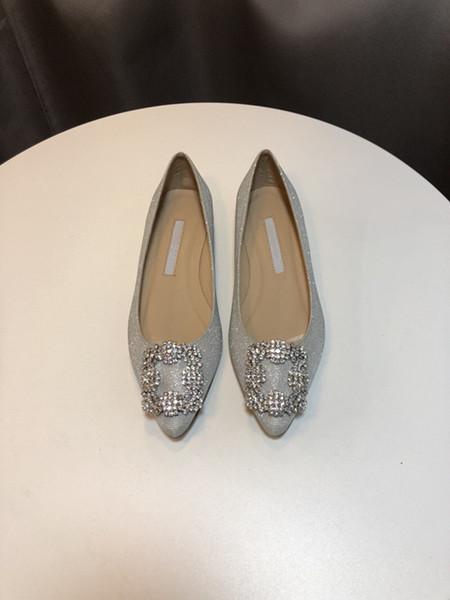 2020 marca mercerizzato denim genuino scarpe da sposa strass argento tacchi alti women039; s nozze scarpe scarpe da sposa yc19031112