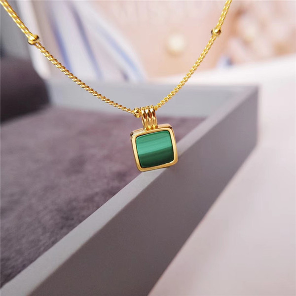 engagement luxury jewelry necklace woman malachite necklace designer fashion luxury jewelry necklace women gift size 41+2+2