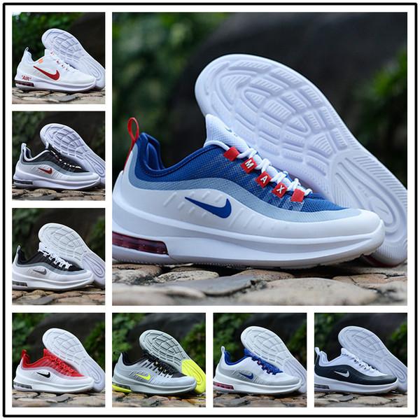 Acquista Designer Shoes Men Women Nike AIR MAX Con Orologio Sportivo 2019 Nuove Scarpe Da Corsa Axis Triple Nere Bianche Blu Scuro Cool Grigio Scarpe