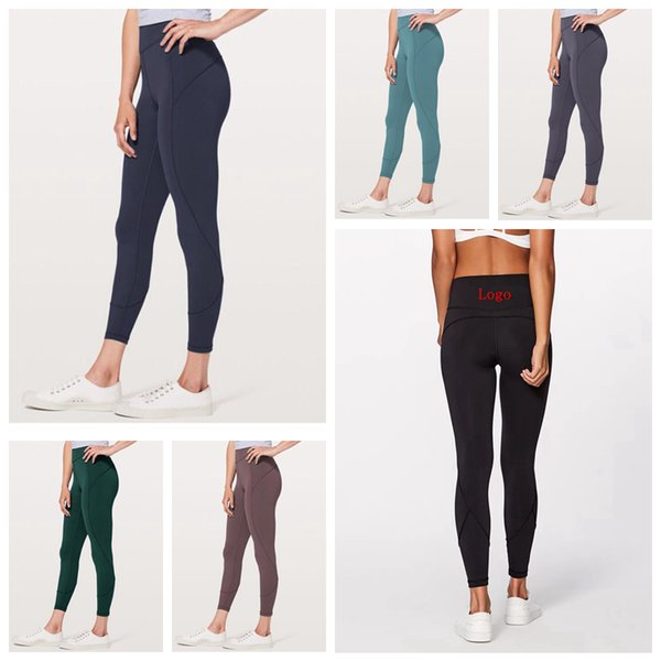 top popular Women Skinny Leggings 6 Colors Sports Gym Yoga Pants High Waist Workout Tight Yoga Leggings OOA6330 2019