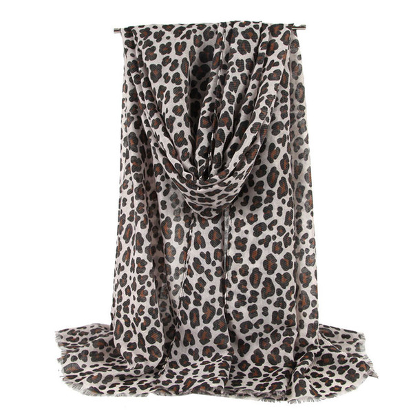 New high-end fashion thin scarf ladies leopard print scarf sunscreen beach shawl long shawl and shawl ladies leopard scarf free shipping