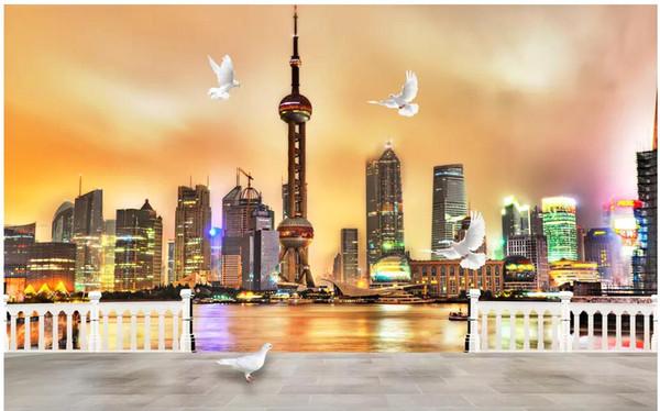 Wdbh 3d Wallpaper Custom Photo Beautiful Shanghai Oriental Pearl Night Scene Living Room Home Decor 3d Wall Murals Wallpaper For Walls 3 D H Wallpaper