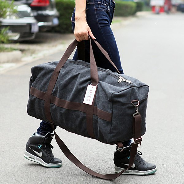 Nuevo bolso de viaje de lona para hombre de gran capacidad para mujer Equipaje de mano Bolsa de viaje Bolsa de fin de semana Bolsas de hombro multifuncionales ReistasMX190906