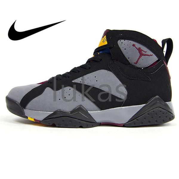 online store 28b6d dc09d Original Authentic Nike Air Jordan 7 Bordeaux AJ7 Bordeaux Women Men 7s VII  Jordans Airs Basketball Shoes Sneakers Sport Outdoor Massage Medium Cut ...