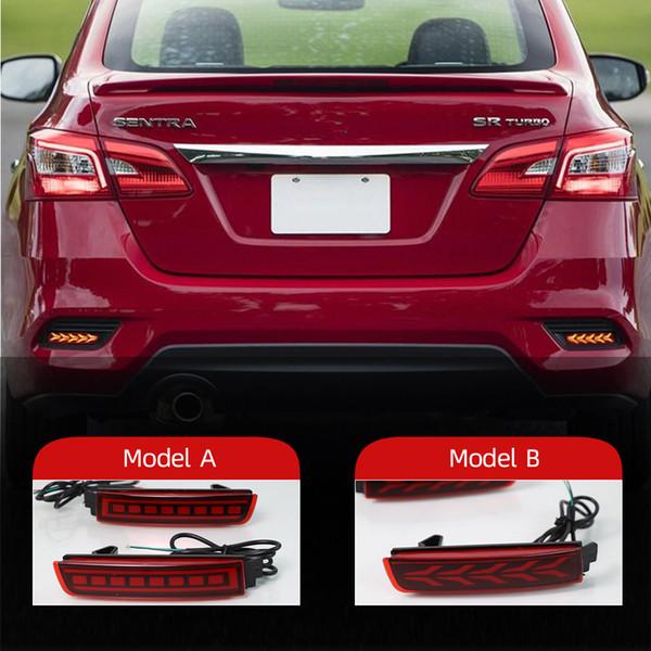 top popular 2PCS LED Reflector For Nissan Kicks 2016 - 2020 Car Tail Light Rear Fog Lamp Bumper Light Auto Bulb Brake Light 2021
