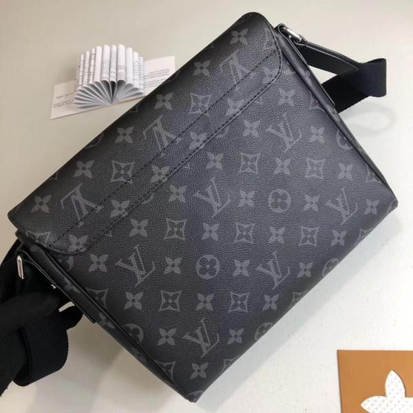 2019 top quality Estilo Clássico Brown DISTRITO famosa Marca Clássico designer de moda Homens messenger bags corpo cruz bolsa de ombro