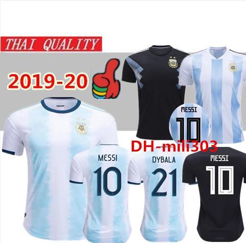 Yeni 2019 2020 Arjantin futbol forması üniforma 19/20 Copa Amerika MESSI DYBALA MARADONA AGUERO DI MARIA Erkekler Kadınlar Çoc ...