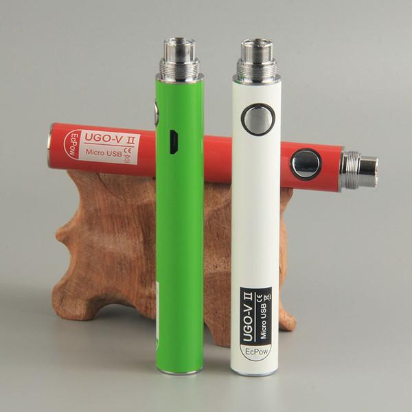 UGO Vape Battery Ugo V II V2 Battery 900mAh for GS H2 Clearomizer Atomizer Electronic Cigarette Vaporizer Vape Pen Blister Starter Battery