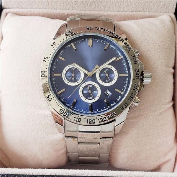 Heißer Verkauf Chef Uhren für Männer Edelstahl Quarzwerk Herrenuhr alle funktionellen kleinen Zifferblatt Arbeit Designer Stoppuhr Herrenuhr