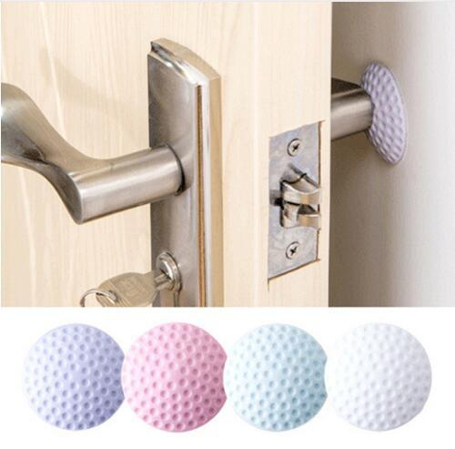 Wall Thickening Mute Door Stick Golf Styling Rubber Fender Handle Door Lock Protective Pad Protection Home Wall Stickers