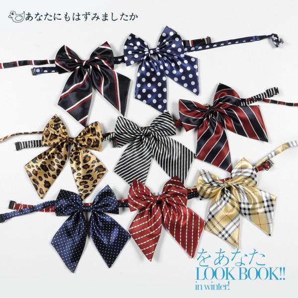 Korean Bowtie Silk Tie Geschenke für Männer abnehmbare Kragen Strass Bow Ties Fashion Shirts Frauen