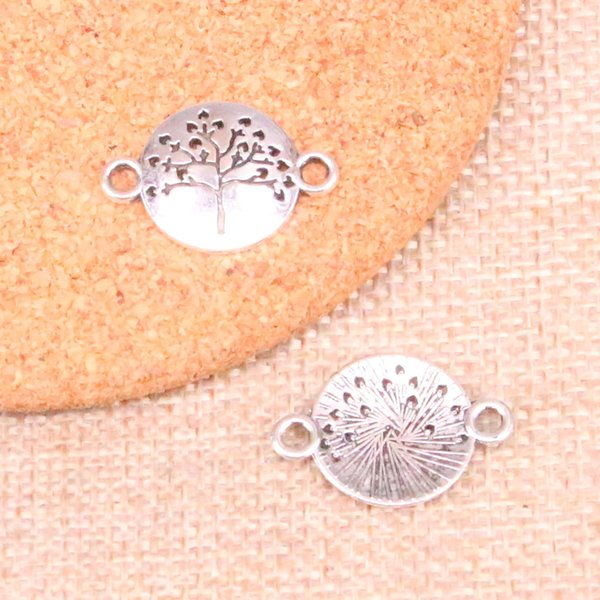 160pcs Charms peace tree connector Antique Silver Plated Pendants Fit Jewelry Making Findings Accessories 23*16mm
