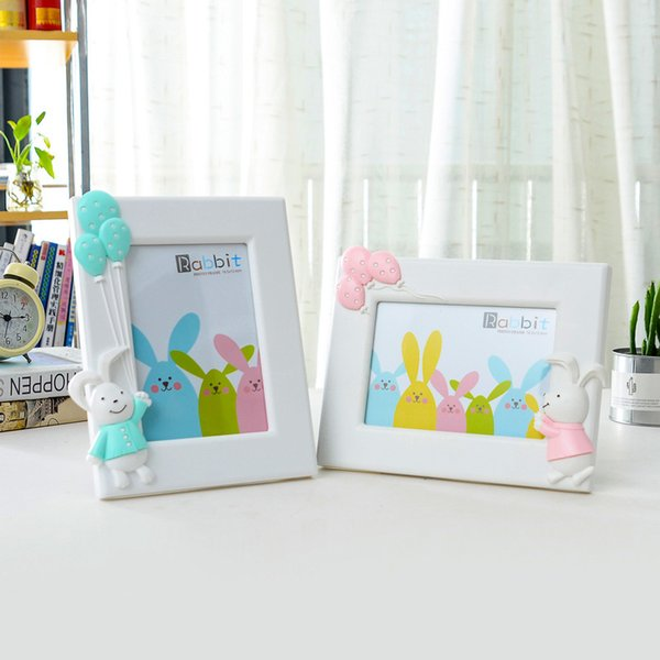 Cartoon Balloon 7-inch Photo Frame Lovely Children's Picture Frame On Table Bedroom Decoration Cute Baby porta retrato