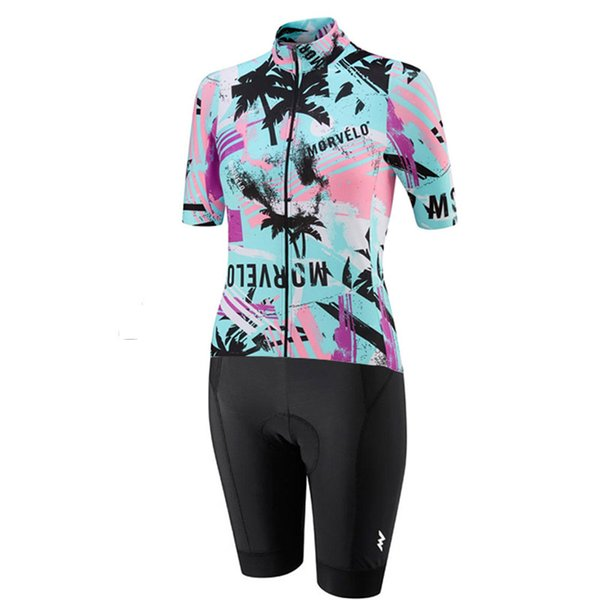 2019 Morvelo team Cycling Jersey Skinsuit Female short sleeve ropa ciclismo hombre bike Wear shorts set triathlon high quality Cycling Cloth