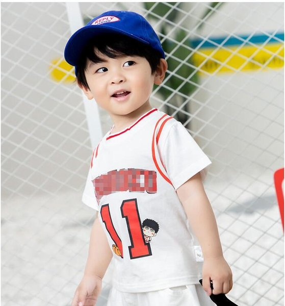 New Baby Boys Sports ball suit set for boy and girl jersey vest shorts two-piece set Tracksuits Kids Clothing sets Free Shipping