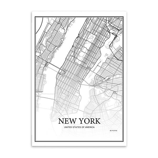 30x40cm No Frame New York