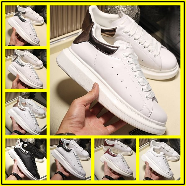 2019 Sneakers Cheap Best Top Quality Fashion White Leather Platform Shoes Flat Casual Party Wedding Shoesoe Sports Tennis