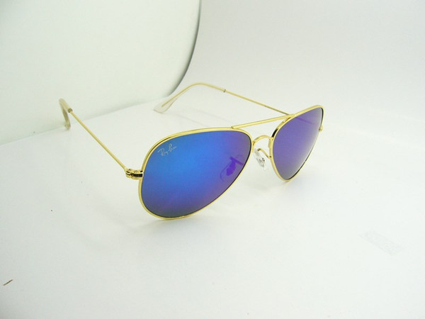 Gold frame blue lens